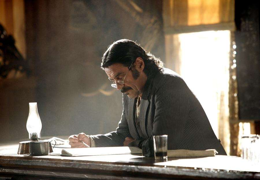 Ian McShane was the fire-breathing, expletive-spewing leader of