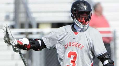 Syosset attacker Mac O'Keefe reacts after he scores