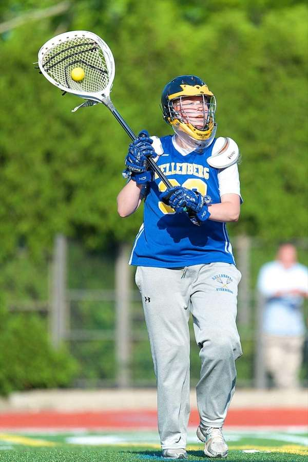 Kellenberg goalie Maggie Friel looks for an open