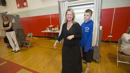 Sue Russell of Peconic brought her son Steven,