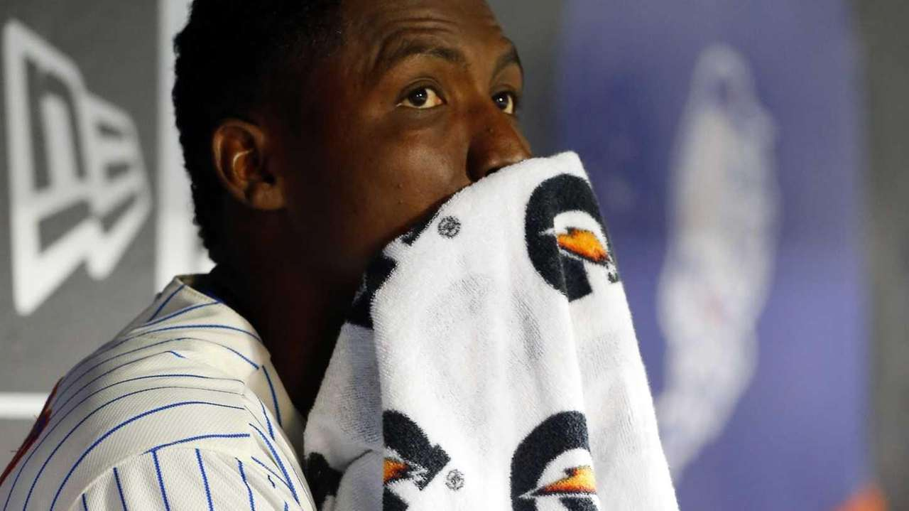 Rafael Montero of the Mets sits in the