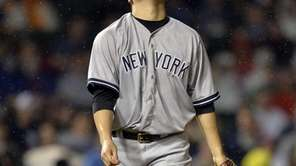 Starting pitcher Masahiro Tanaka of the Yankees stands