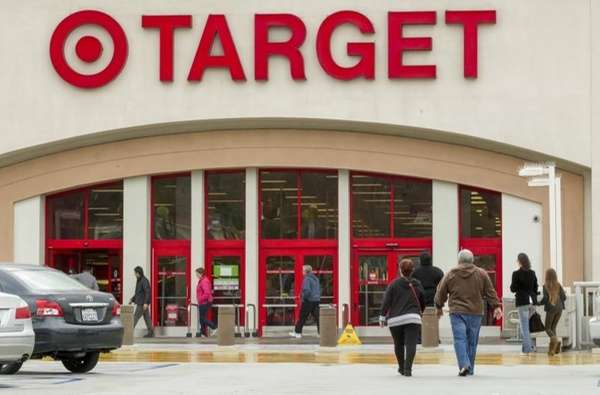 Shoppers arrive at a Target store in Los