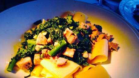 Pacceri pasta with sausage and broccoli raab is
