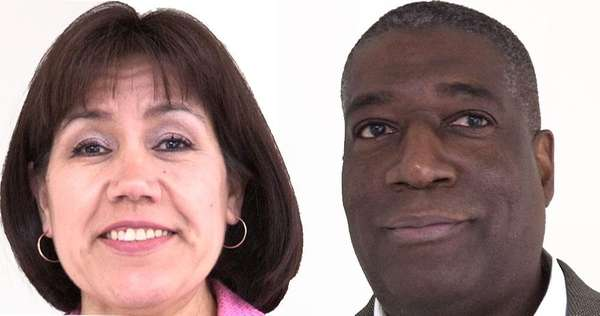 First-time candidates Ricky A. Cooke Sr. and Maribel