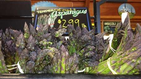 Asparagus for sale at Bay View Farm Market