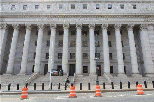The Thurgood Marshall U.S. courthouse is photographed on