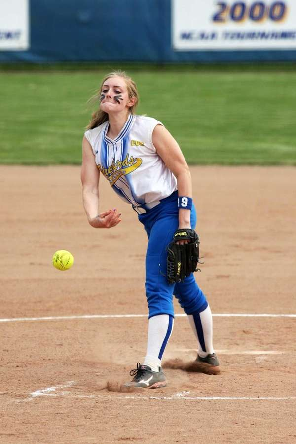 Kellenberg pitcher Katherine Piorkowski throws during the CHSAA