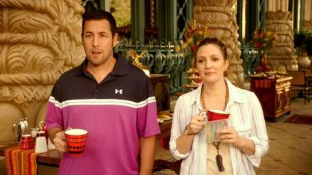 Drew Barrymore and Adam Sandler in