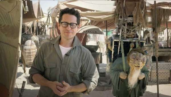 Director J.J. Abrams on the set of