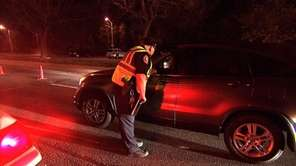 A Nassau County police sobriety checkpoint on May