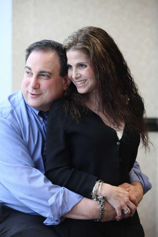Martin Tankleff, with his wife Laurie, on Wednesday,