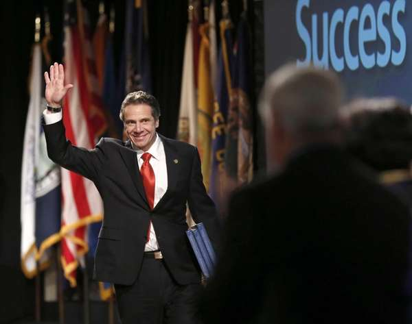 New York Gov. Andrew Cuomo delivers his annual