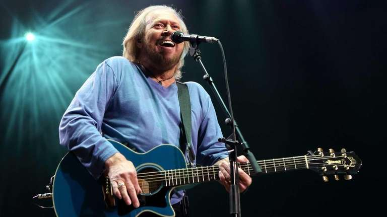 Barry Gibb of The Bee Gees performs solo
