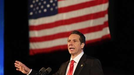 Governor Andrew Cuomo speaks during the New York