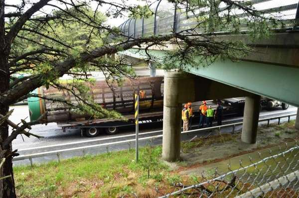A truck crash into a bridge Thursday has