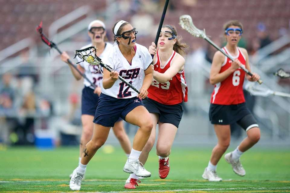 Cold Spring Harbor's Holly Logan attempts to drive