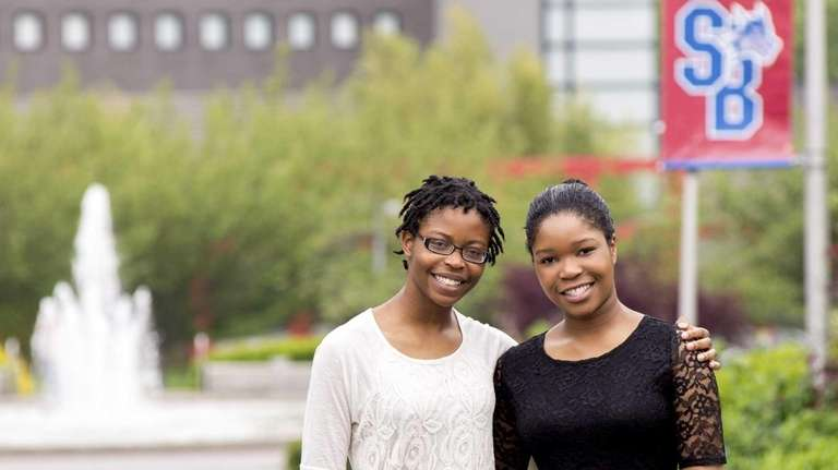 Maravilha Ani, 18, left, with her sister Lidia,