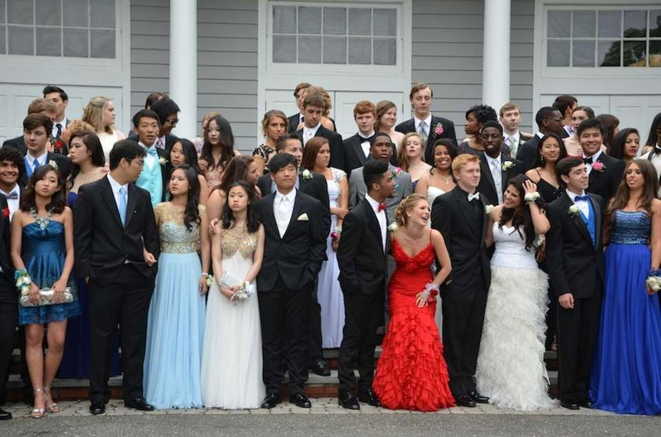 Students pose for pictures at The Stony Brook
