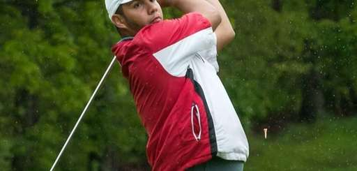 Middle Country's Michael Miranda tees off during the