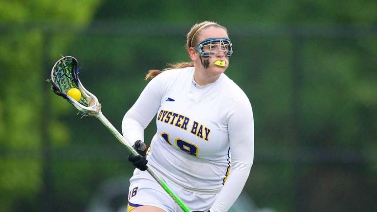 Oyster Bay attacker Hannah Kaiser handles the ball