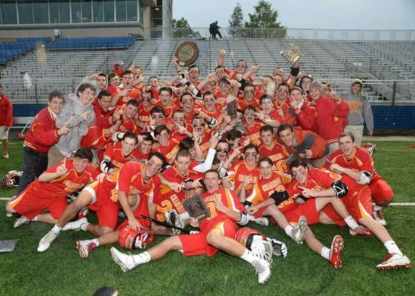 Chaminade players celebrate their win over St. Anthony's