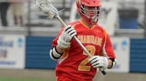 Chaminade's Jack Tigh drives on goal during the