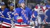 Carl Hagelin #62 of the Rangers celebrates his