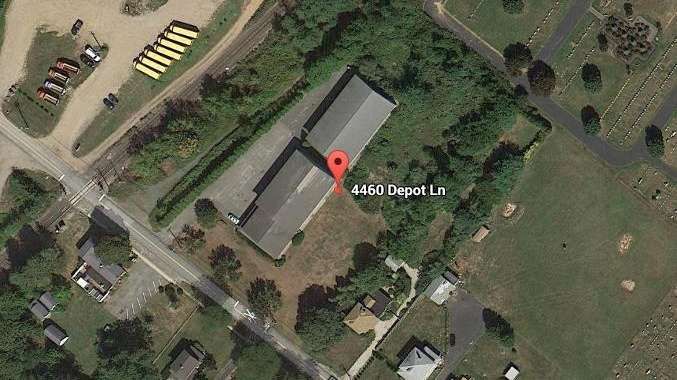 A Google satellite image of 4460 Depot Lane