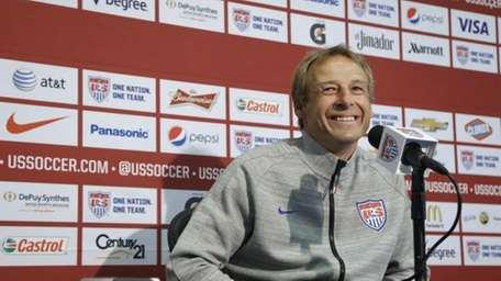 United States soccer coach Jurgen Klinsmann speaks at