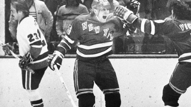 Anders Hedberg of the Rangers reacts after he