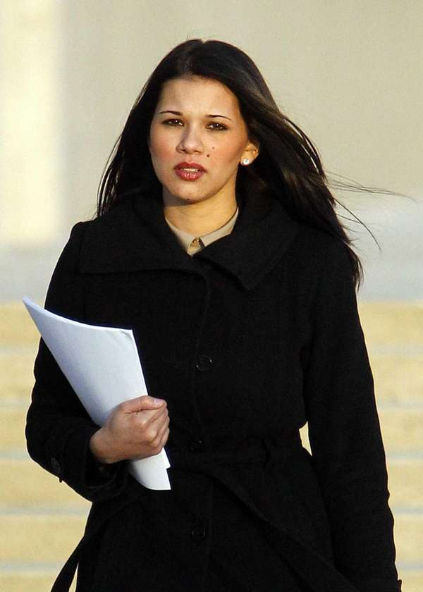 Defendant Shamika Luciano leaves Federal Court Friday, Jan.