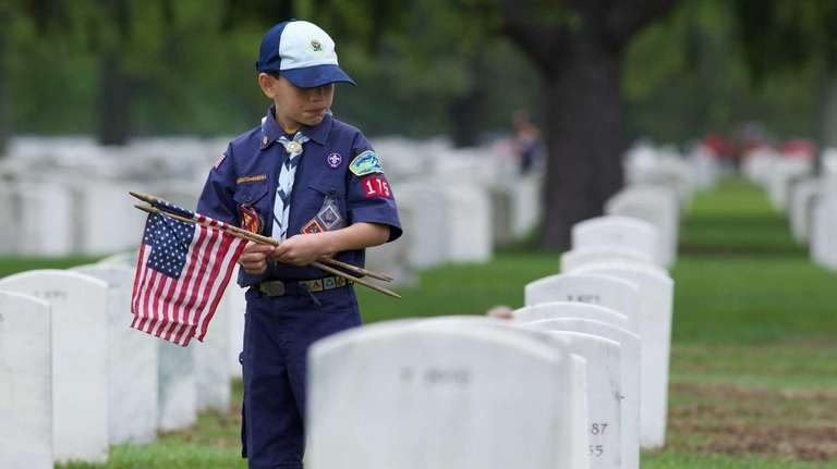 Boy Scout Joseph Caltabiano, 9, of West Babylon,