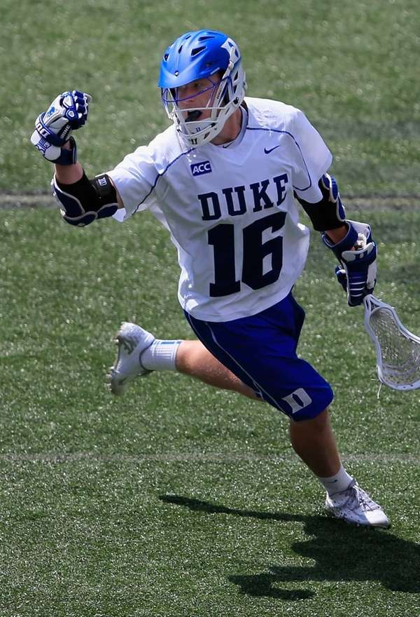 Kyle Keenanof the Duke Blue Devils celebrates after