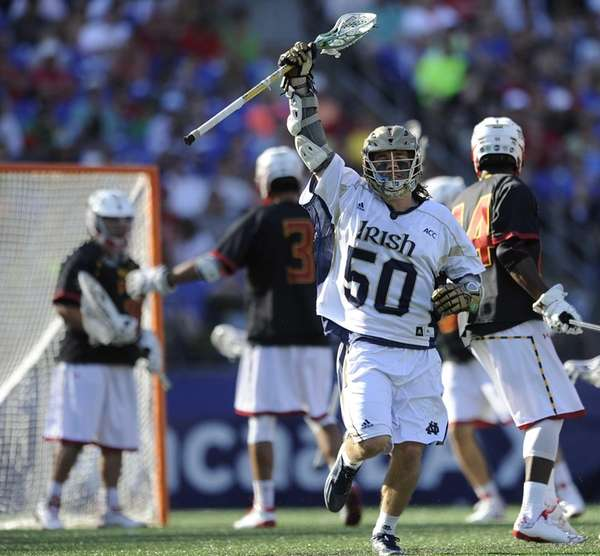 Notre Dame's Matt Kavanagh reacts after scoring against