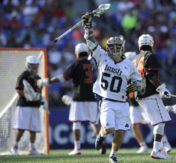 Notre Dame's Matt Kavanagh reacts after scoring against