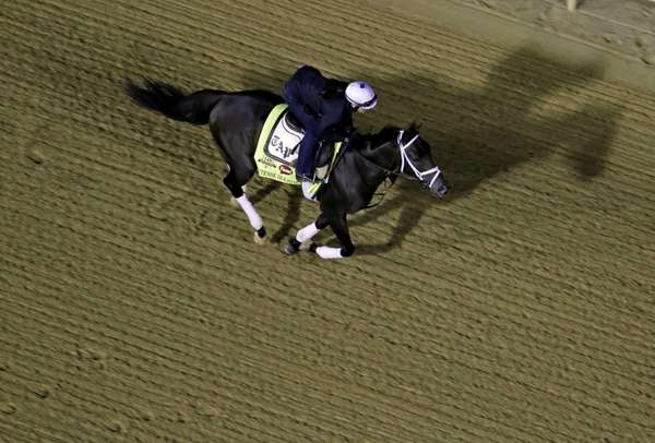 Exercise rider Isabelle Bourez takes Kentucky Derby entrant