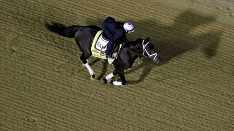 Exercise rider Isabelle Bourez takes Kentucky Derby entrant