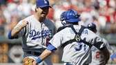 Los Angeles Dodgers starting pitcher Josh Beckett, left,