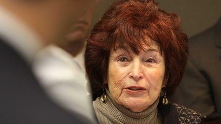 Nassau County Presiding Officer Norma Gonsalves speaks during