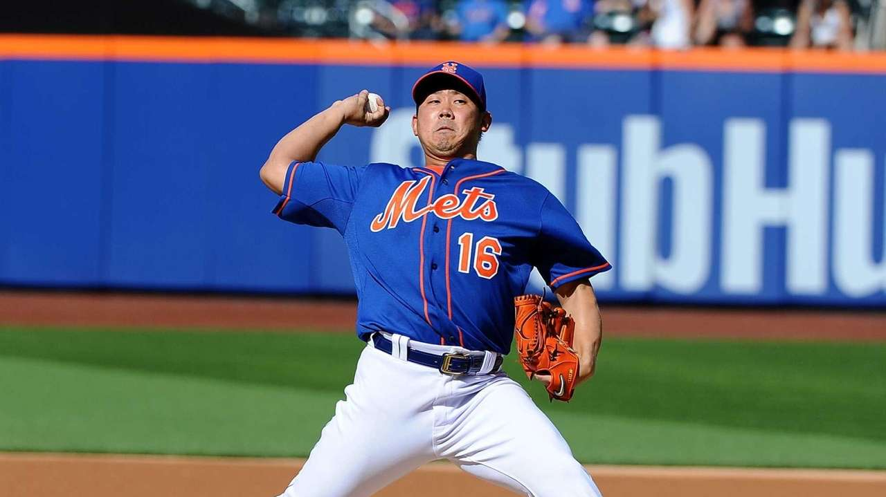 Daisuke Matsuzaka of the Mets delivers a pitch