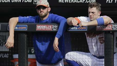 New York Mets Eric Campbell and David Wright