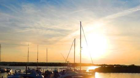A sunset as viewed from Bay Kitchen Bar