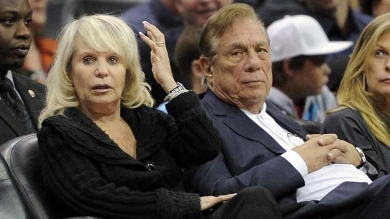 Shelly Sterling and her husband, Los Angeles Clippers
