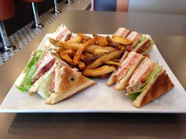 A turkey club is one of the sandwiches