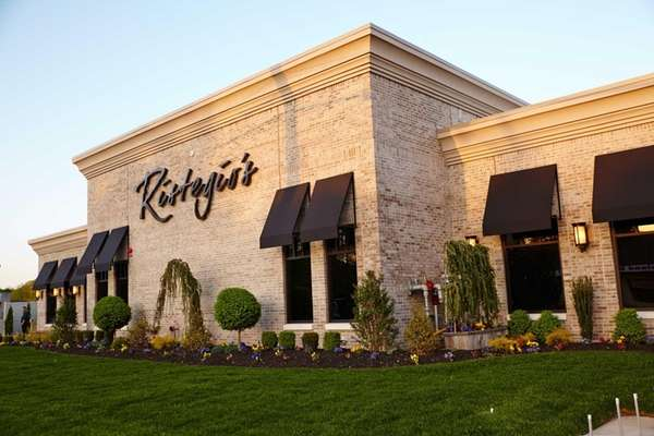 Ristegio's restaurant is situated on a dim stretch