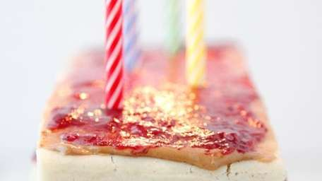 The PB&J pancake layer cake can be found