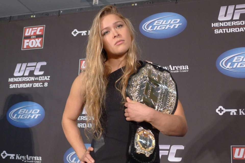 RONDA ROUSEY NAMED UFC CHAMPION Dec. 6, 2012,