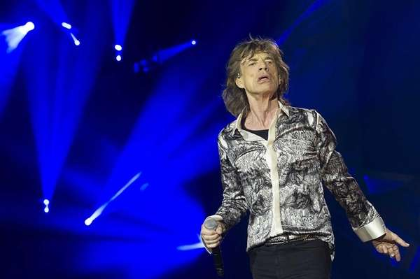 Mick Jagger performs with The Rolling Stones at