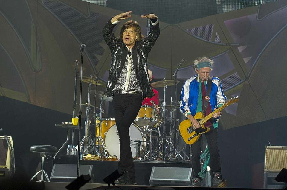 Mick Jagger and Keith Richards of The Rolling